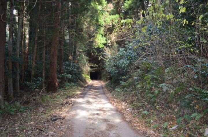千と千尋の神隠しに出てきそうなトンネルの入口,鮫ヶ浦水曜日郵便局