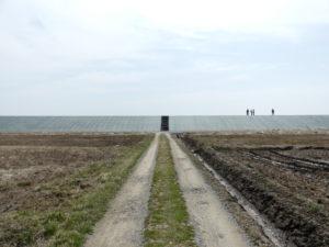 松島基地東側のブルーインパルス撮影スポットに向かう道