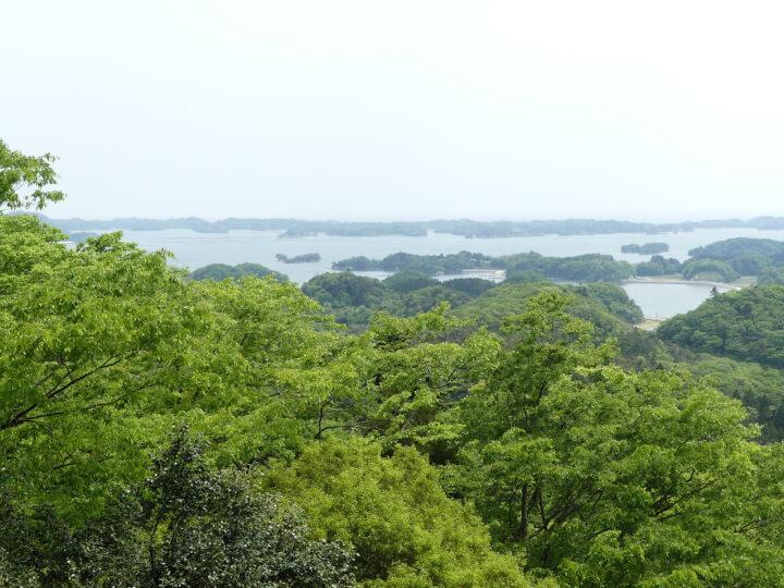 松島四大観 麗観・富山からの眺め